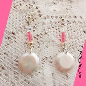 Pearlescent coral dangles